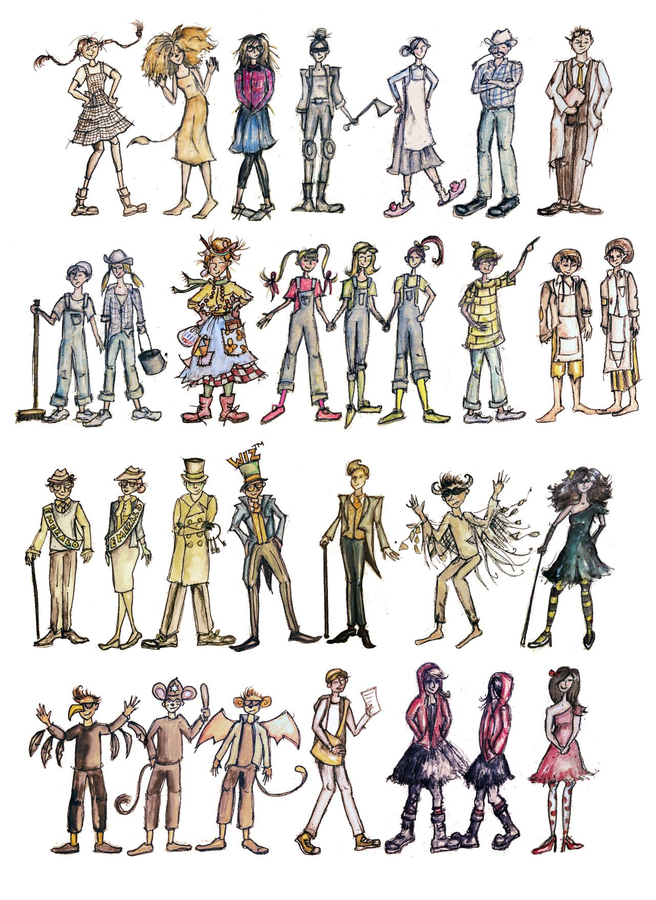 Sarah Lewis Theatre Designer Maker Photo The Wiz Costume Design Sketch Props Illustration