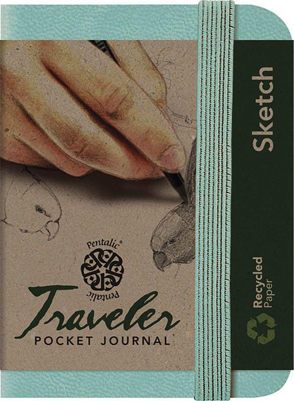 "Pentalic Traveler Pocket Journal Sketch Black 6/"" x 4/"" New Free Ship"
