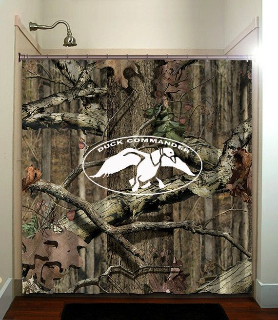 Duck Camo Hunter Pattern Custom Shower Bathroom Curtain Decor Wide On Etsy 2999