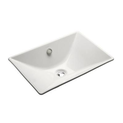 Kohler Reve Fireclay Vessel Sink In White With Overflow Drain K 4819 0 The Home Depot