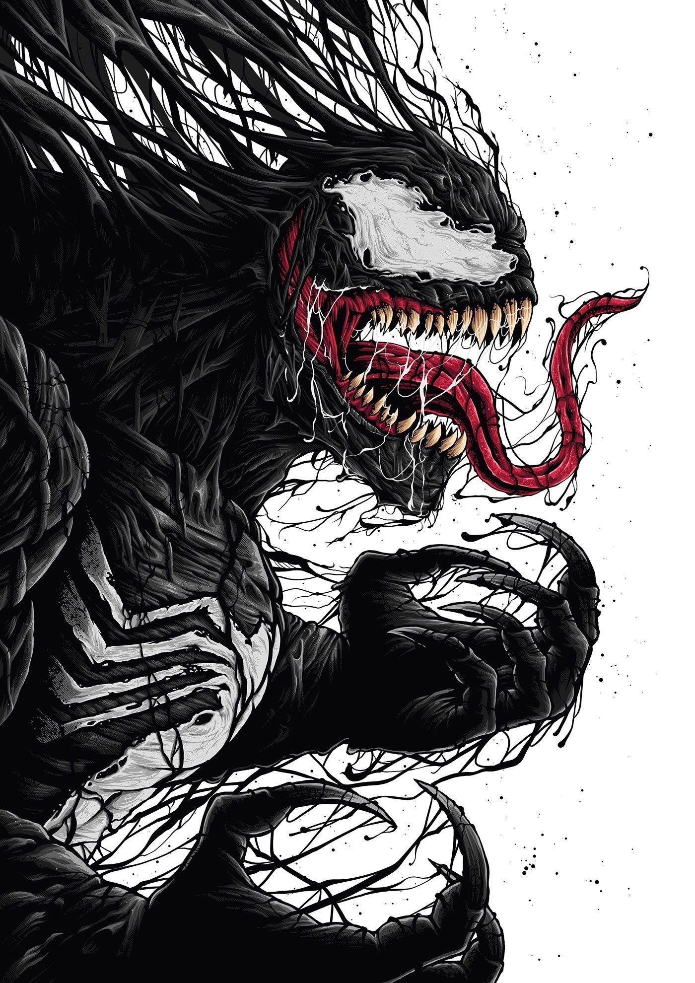 Symbiote Rorschach Venom Art Spiderman Tattoo Marvel Tattoos