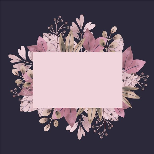 Download Empty Banner With Winter Flowers for free