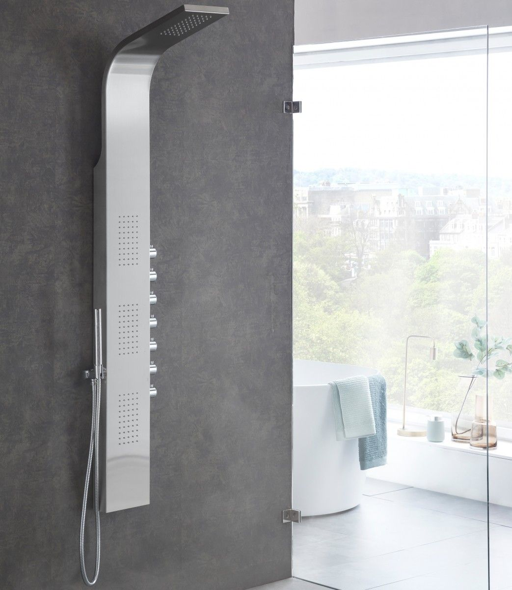 Wohnling Duschpaneel Mit Regendusche Wl2 010 Aus Edelstahl Dusche Bad Badezimmer Wohlfuhlen Wohnidee Luxus Regendusche Dusche Badezimmer