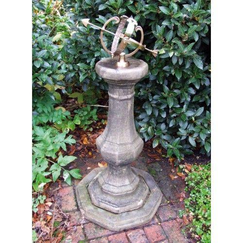 Garden Sundial   Pedestal Armillary Stone Sun Dial