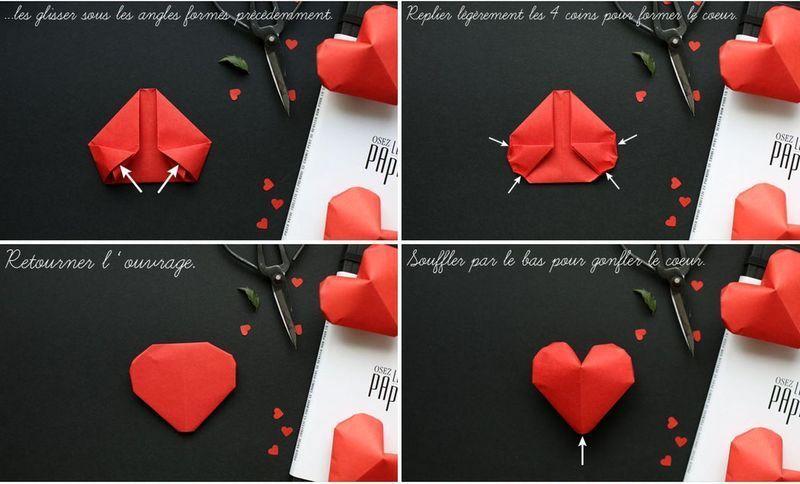 Дню рождения, как сделать открытку сердечко оригами