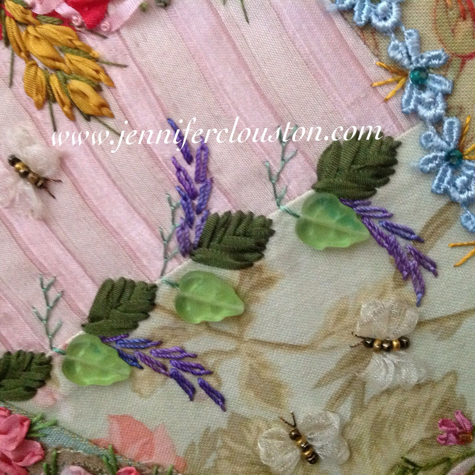 Crazy quilting, Jennifer Clouston, embroidery, silk ribbon embroidery, sewsocrazy, beading, crazy patchwork