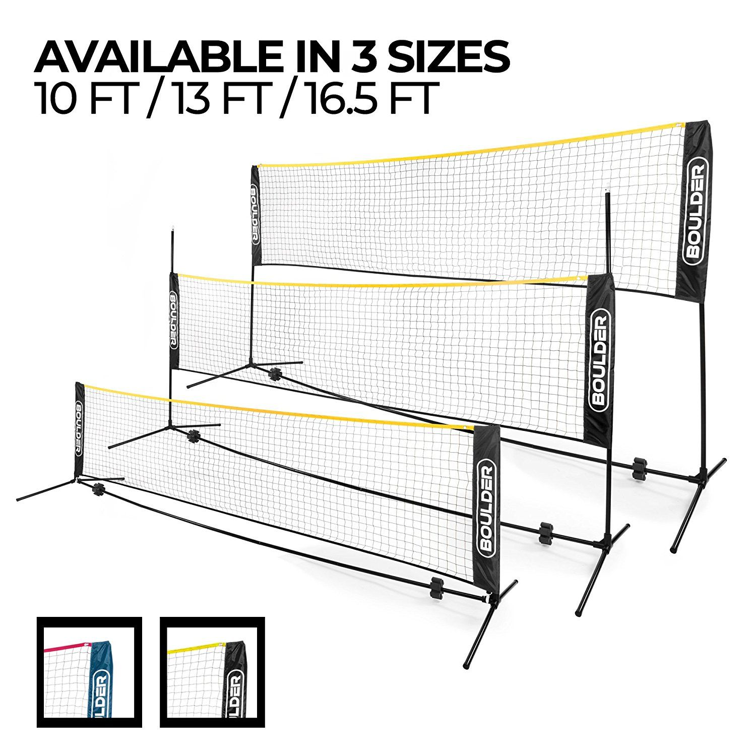 2 Boulder Portable Badminton Net Set Soccer Tennis Badminton Nets Badminton