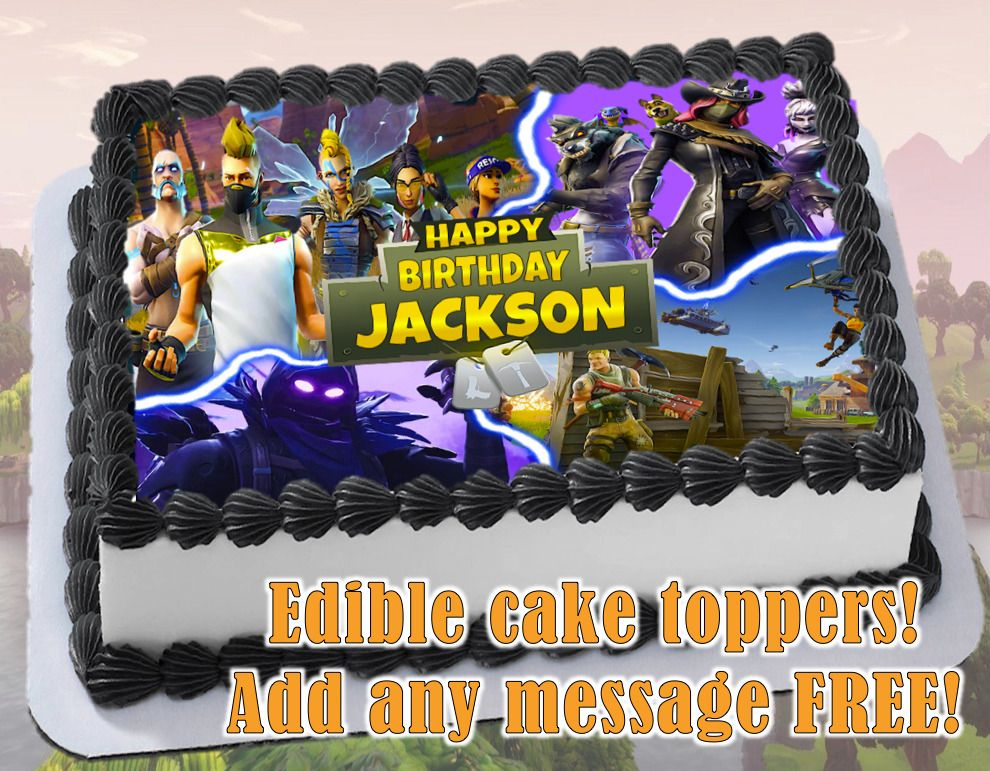 Party Supplies Fortnight Personalised Edible Kids Birthday Party Cake Decoration Topper Image Home Garden