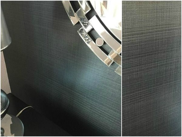 metallic linen wall treatment | projectjeremy stanger | gray