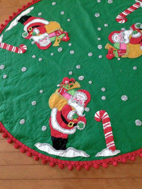 Vintage Tree Skirt Vintage Christmas Tree by VintageChristmasJunk ...