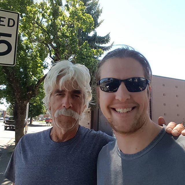 Me and Sam Elliott