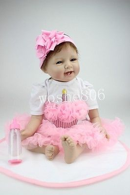 "22""Realistic Handmade Lifelike Baby Girl Doll Silicone Vinyl Reborn Baby Newborn https://t.co/YnoeTN0npl https://t.co/zFAwERQLhE"