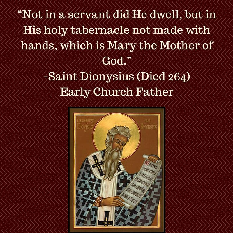 The Early Church Fathers gave the Blessed Virgin Mary the