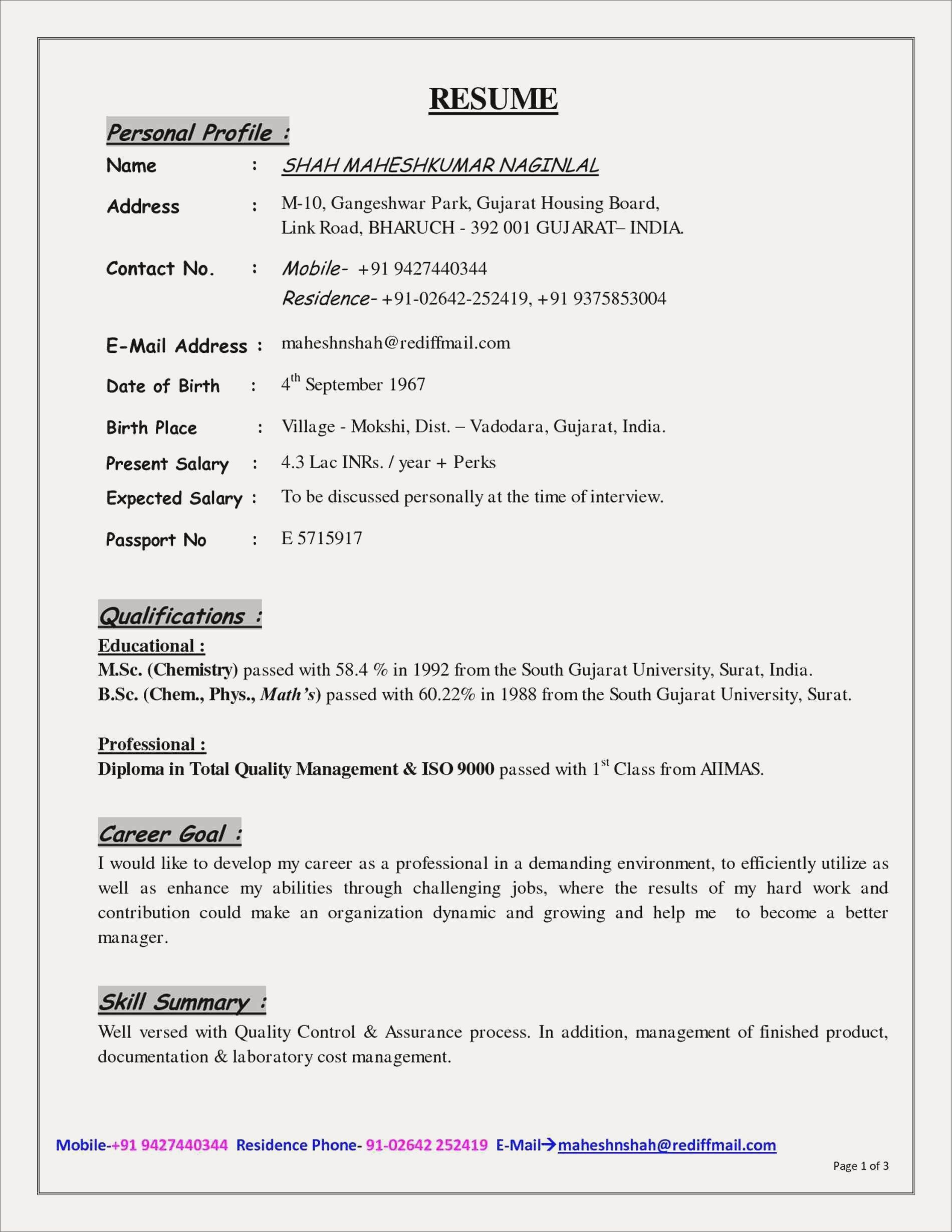 2 Page Resume Format Awesome 2 Page Resume Template Pdf Luxury Image Job Resume Templates Cover Letter For Resume Sample Resume Format Resume Profile Examples