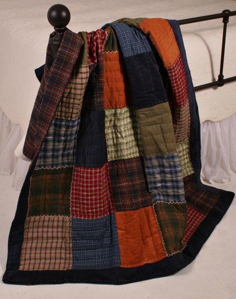 Americana Cambridge Plaid Patchwork Quilt Throw | /tweed~tartan ... : tartan patchwork quilt - Adamdwight.com