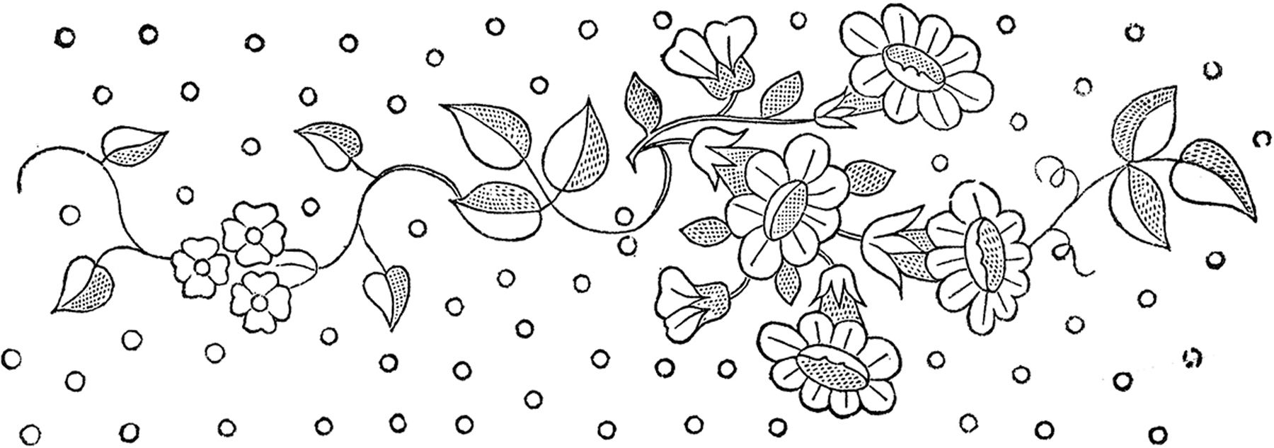 Floral-Embroidery-Pattern-GraphicsFairy.jpg (1800×633) | Floral ...