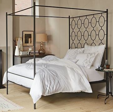 Ellipse Metal Canopy Bed From West Elm Canopy Bed Frame Metal