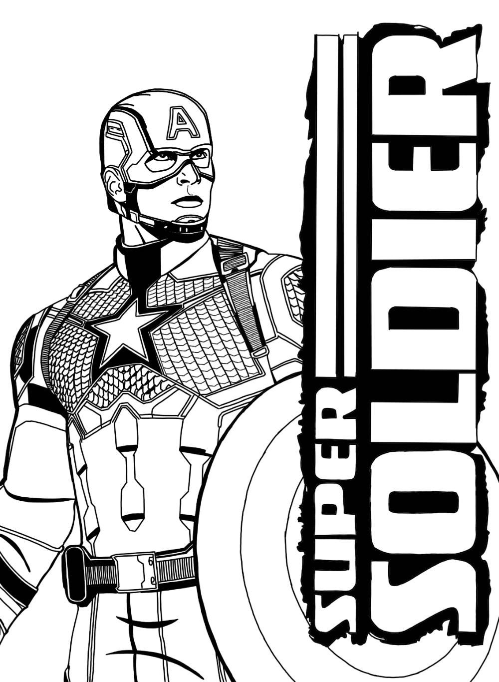 Captain America Endgame Superhero Coloring Pages Captain America Coloring Pages Superhero Coloring Pages Superhero Coloring