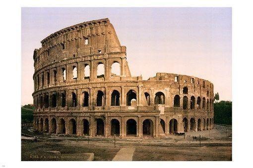 the COLOSSEUM landmark VINTAGE POSTER 24x36 Italy 1896 photo HISTORIC