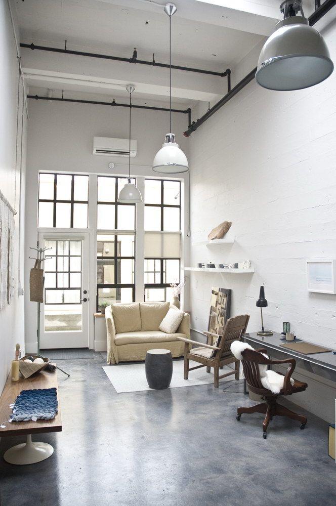 Oficina estilo industrial rehabilitada dise o interior for Diseno de apartamentos industriales