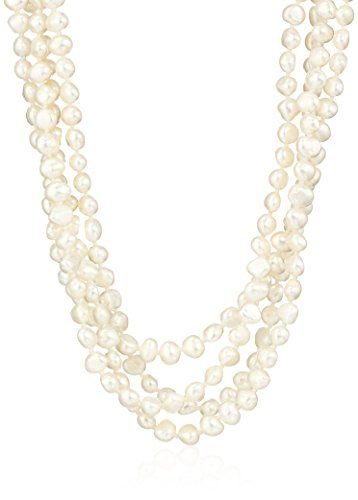 6-7mm Baroque Freshwater Cultured Pearl Endless Necklace, 100
