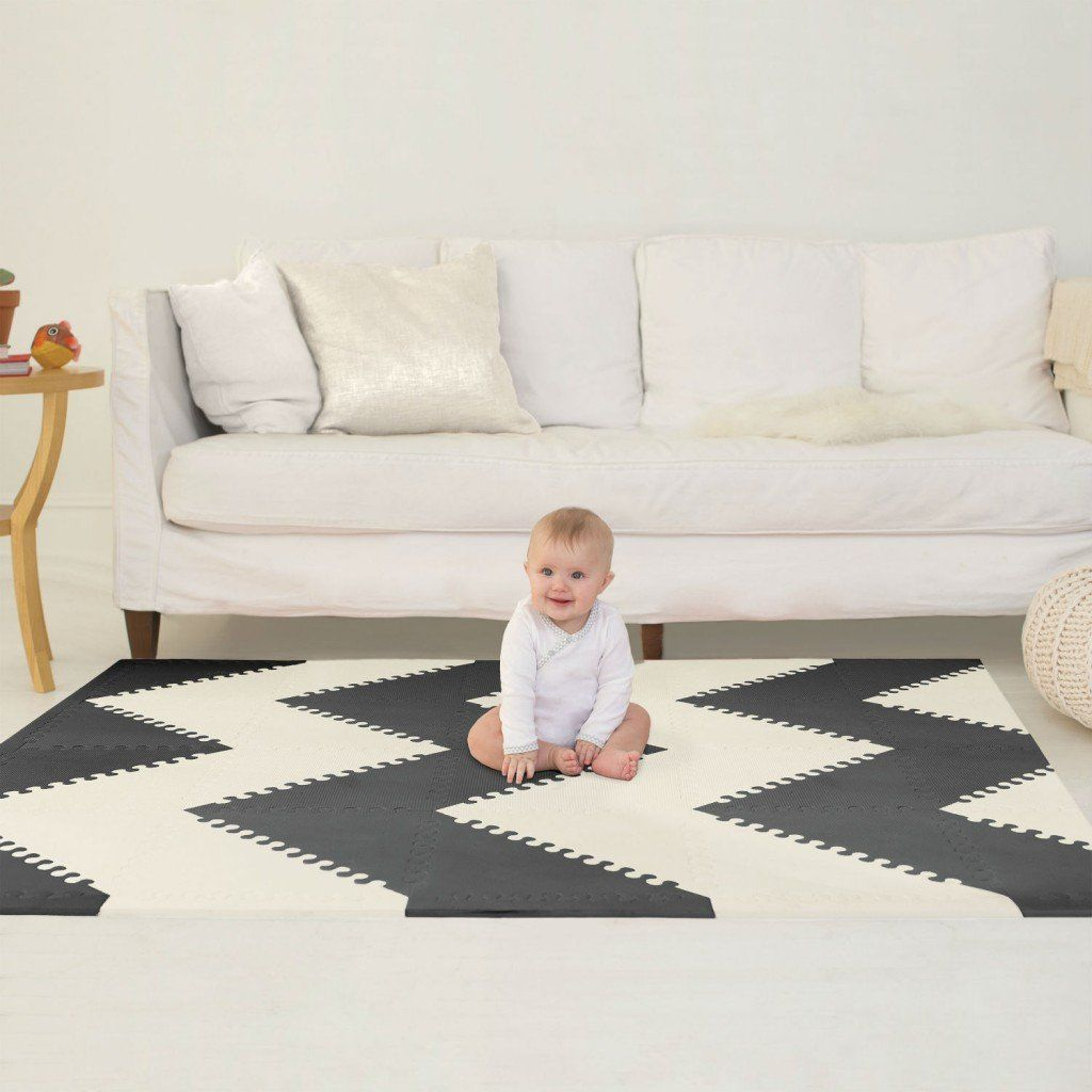 Baby kid foam play mat tiles playspot geo skip hop skip hop play spot interlocking foam tiles geo black cream playspot is a beautiful and innovative soft floor surface that keeps your child comfortable dailygadgetfo Images