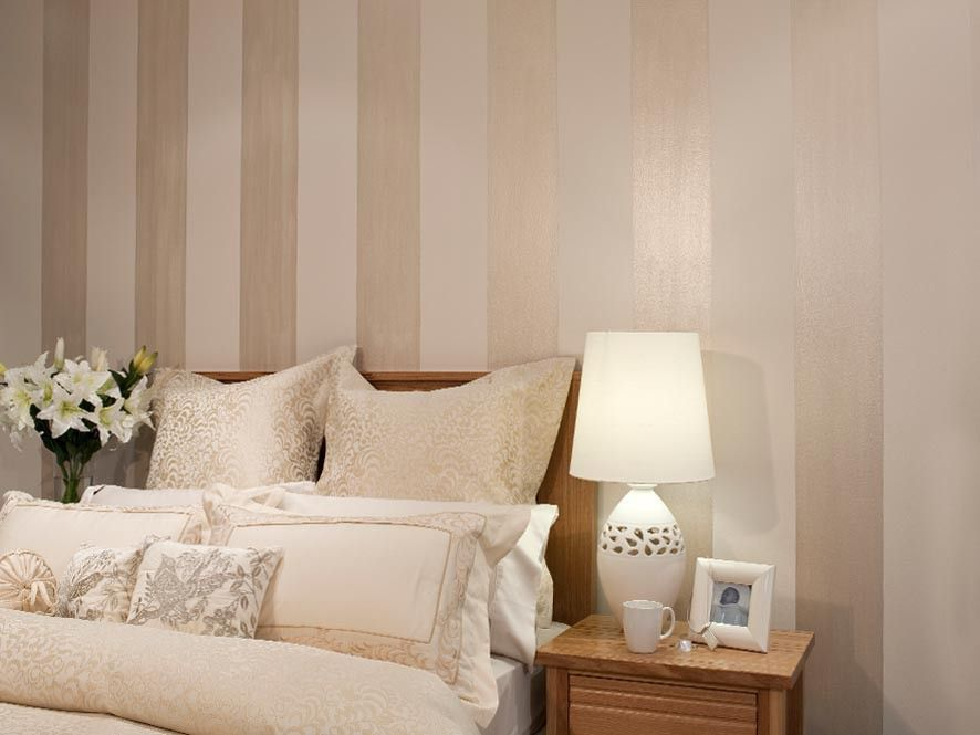 Bedroom Feature Wall   Pearl Stripes   Inspirations Paint: Mobile