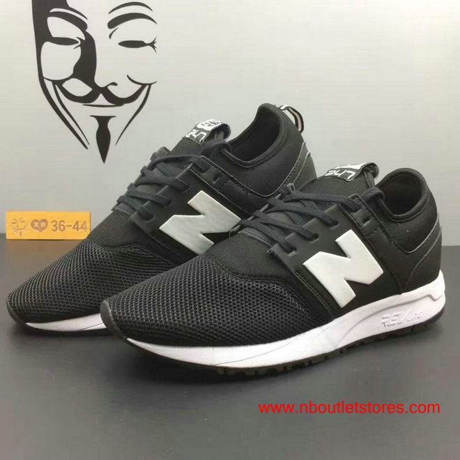 New Balance 247 Classic Black Dark-grey Summer Shoes For Women