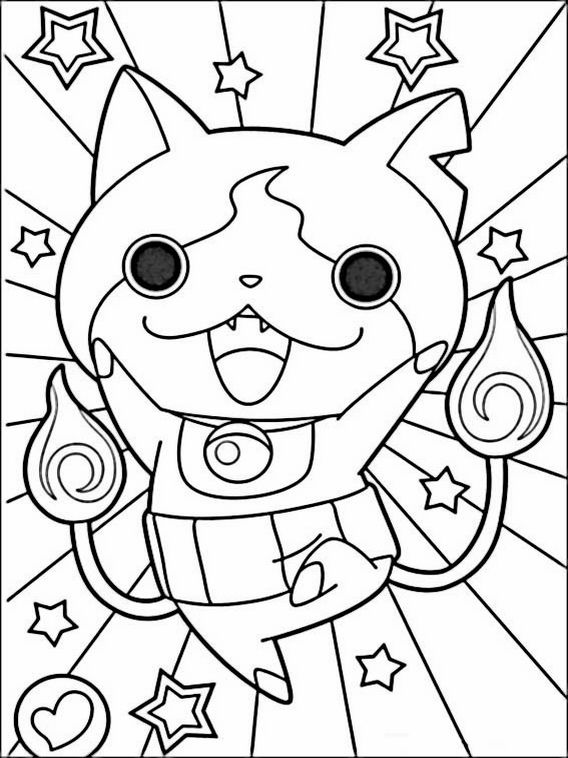 Yo Kai Watch Coloring Pages 4