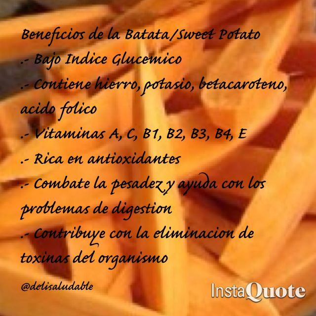 Beneficios de la Batata o Sweet Potato