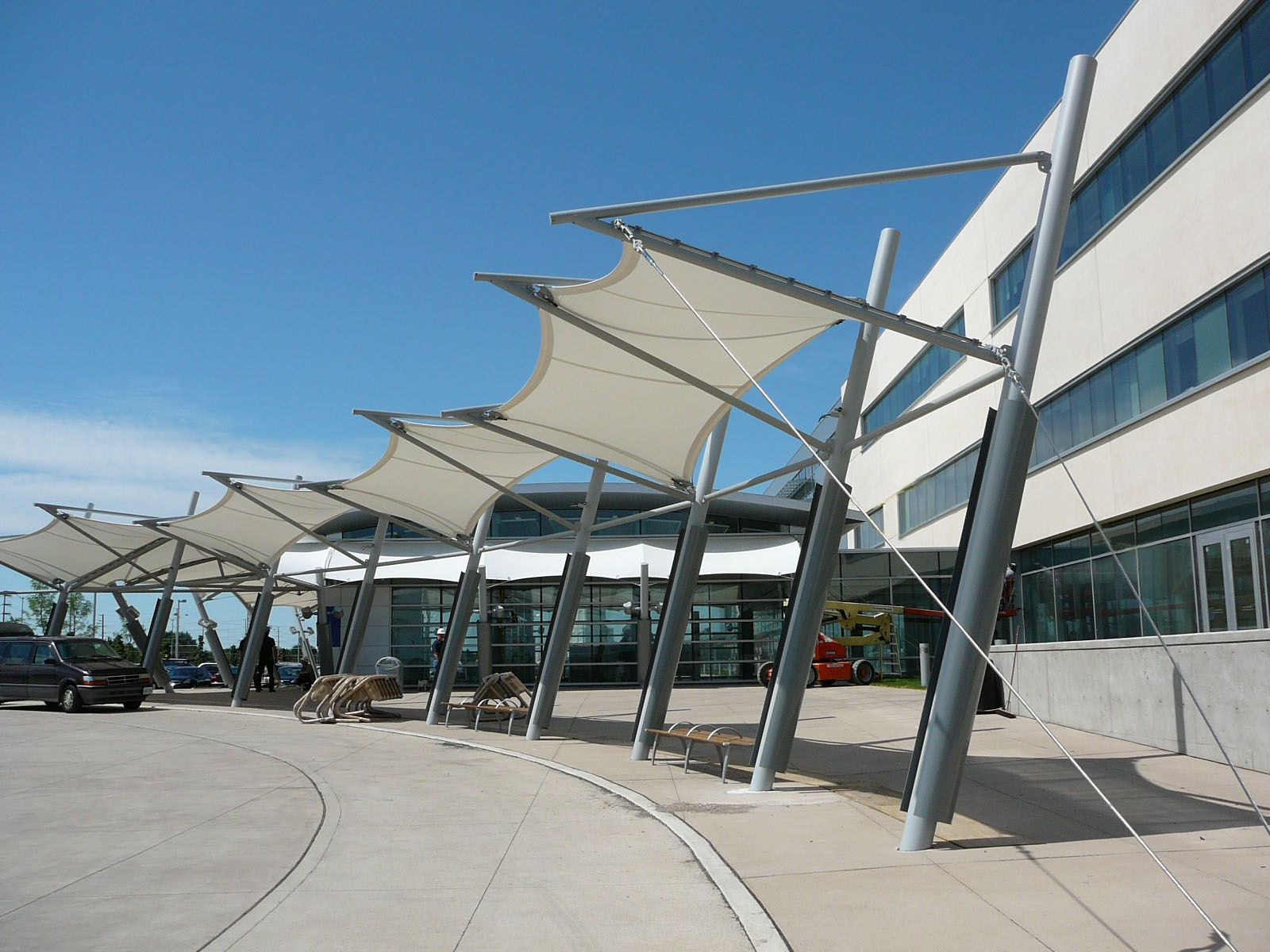 Tensinet Brampton Civic Hospital Shade Structure