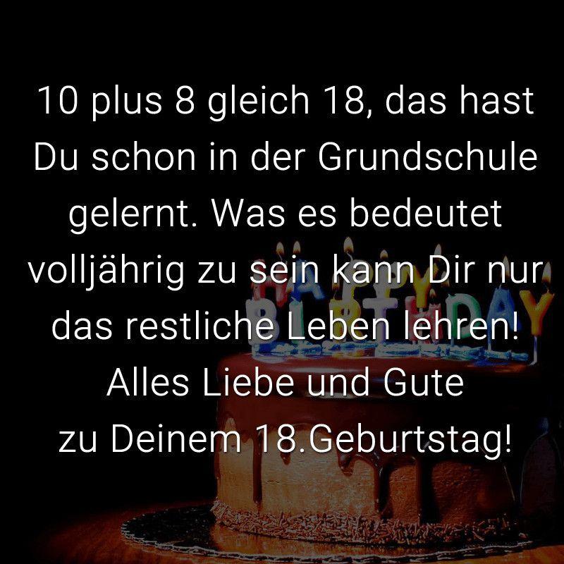 20 Besten Geburtstagsgrusse Zum 18ten Https