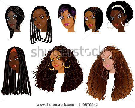 vector illustration of black women