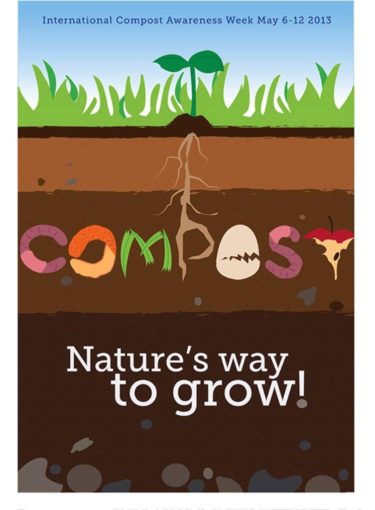 Contoh Poster Adiwiyata Go Green Lingkungan Hidup Hijau Pupuk Kompos