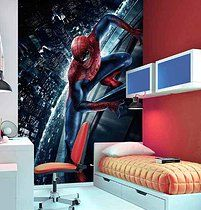 Spiderman Wallpaper Mural.  Comes in 2 easy to hang pieces.  Height 2.32m x  Width 1.58m.  Can be cut to fit smaller size.  Quick and Easy to hang.  £24.99 plus delivery.  Please shop at the link below. http://stores.ebay.co.uk/Littlebrook-Home?_rdc=1