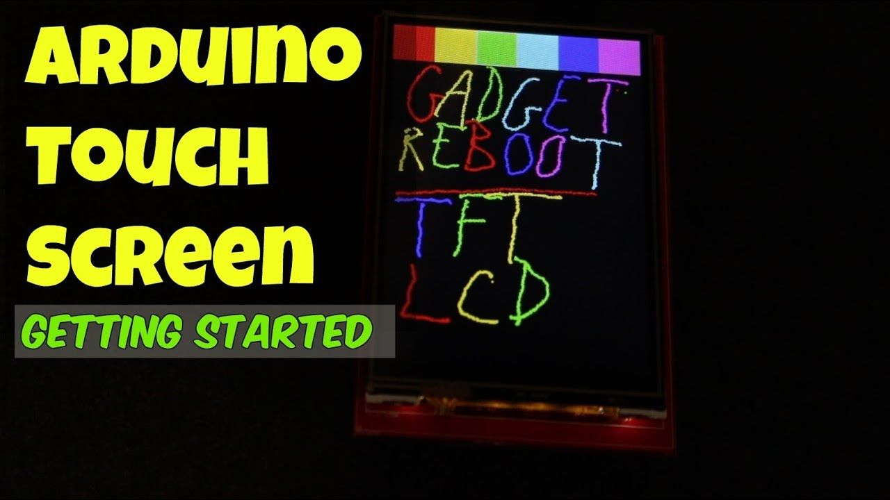 Using A Touch Screen With Arduino