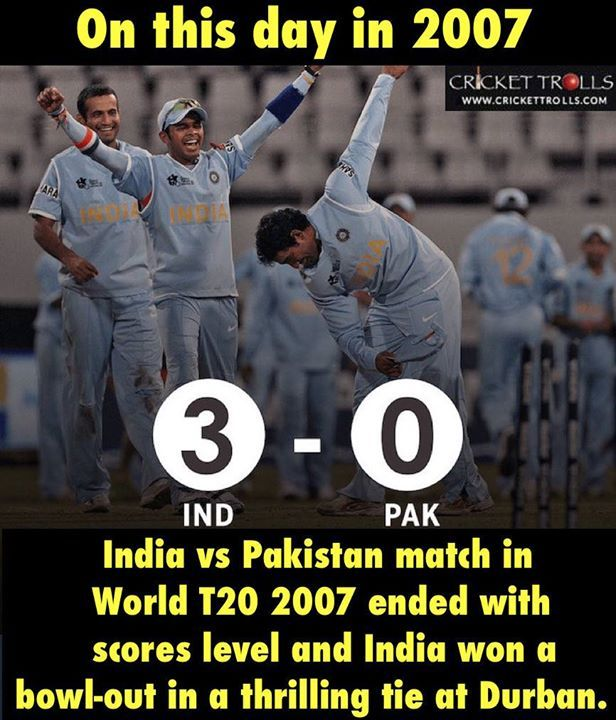 Onthisday Team India Started Its World T20 2007 Winning Campaign Http Ift Tt 1zz3e4d Pakistan Match Cricket Time India Vs Pakistan