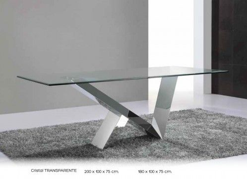 Mesa Comedor Moderna Fija Cristal Metalica 999 M18 Mobles Sedaví Glass Dining Table Dining Table Marble Furniture
