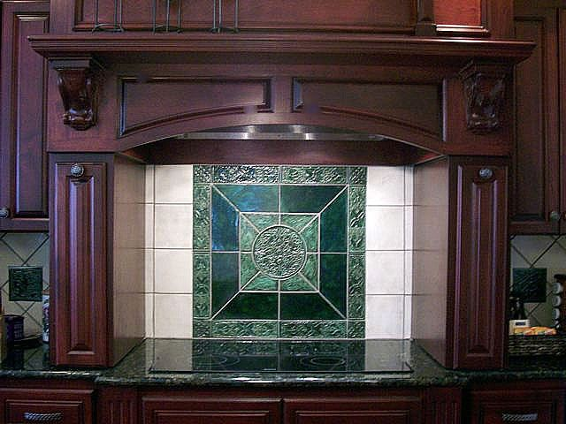 Green Celtic Tile In Kitchen
