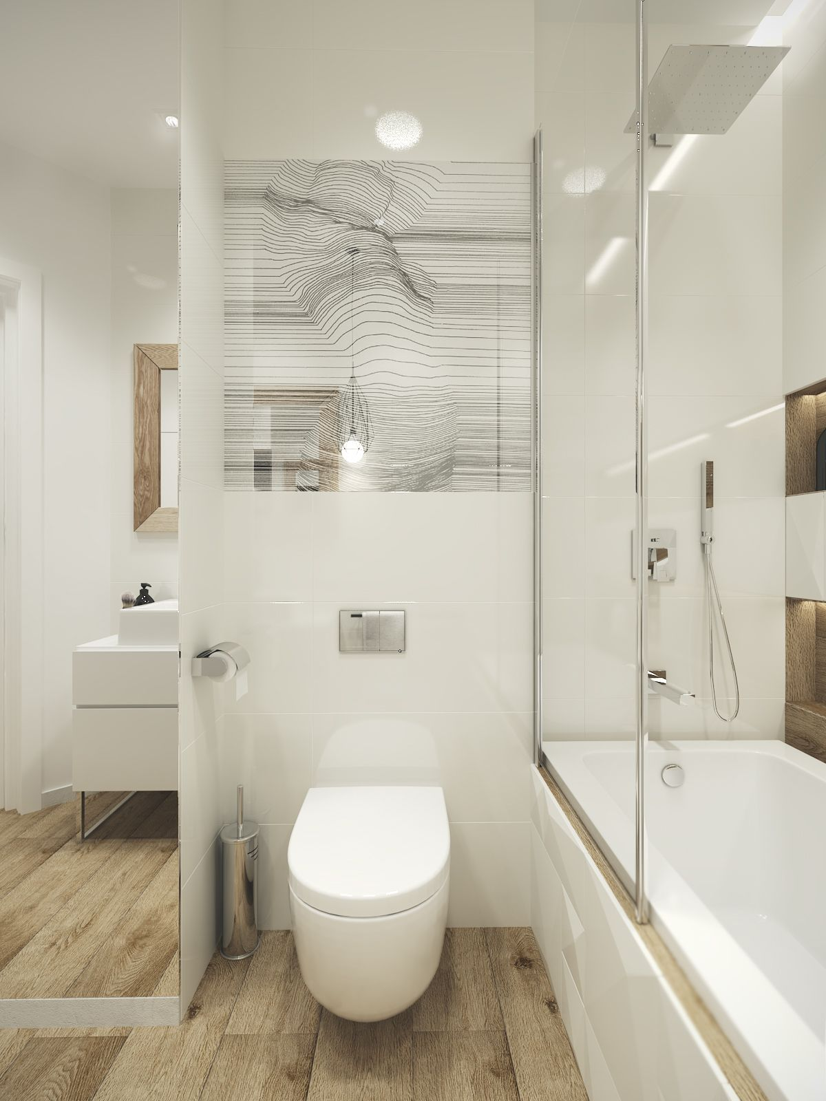 cosy, elegant and functional bathroom which is only 4,5m2, Badezimmer ideen