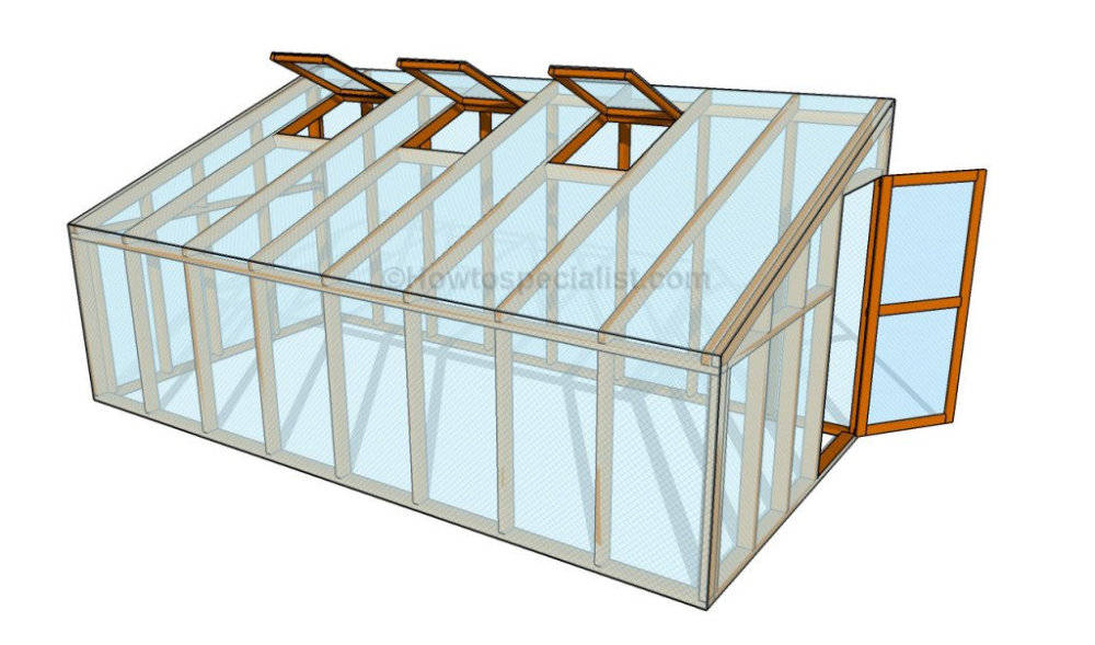 How To Build A Lean To Greenhouse Howtospecialist How To Build Step By Step Diy Plans In 2020 Lean To Greenhouse Greenhouse Plans Diy Greenhouse Plans