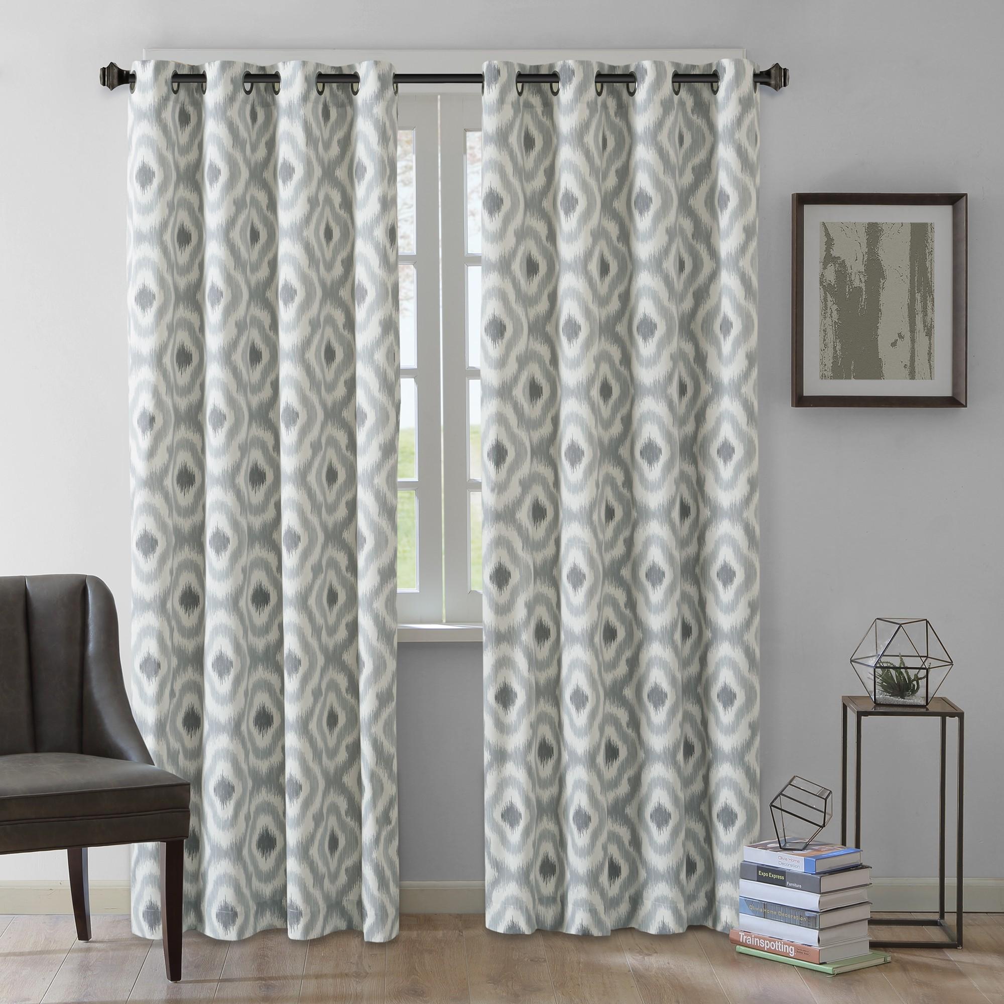 Ankara Cotton Printed Curtain Panel Taupe Brown 50 X63