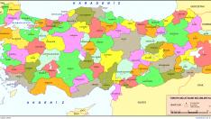 Turkiye Haritasi Iller Yazili Sekilde Harita Haritalar Boyama Sayfalari