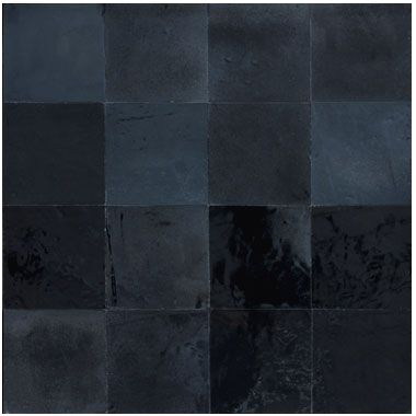 Zellige noir m tallique mosaic del sur kitchen for Carrelage zellige sol