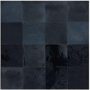 Zellige Noir Metallique Mosaic Del Sur Zellige Carreaux