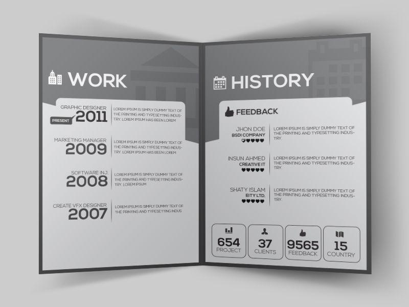 Clean Resume Booklet Design by Eftakher Alam Design Pinterest - clean resume format