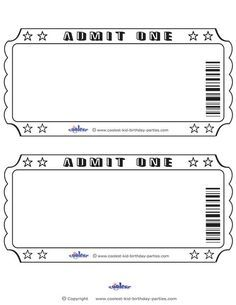 photograph regarding Free Printable Movie Tickets known as Blank Printable Confess Just one Invites Coolest Free of charge