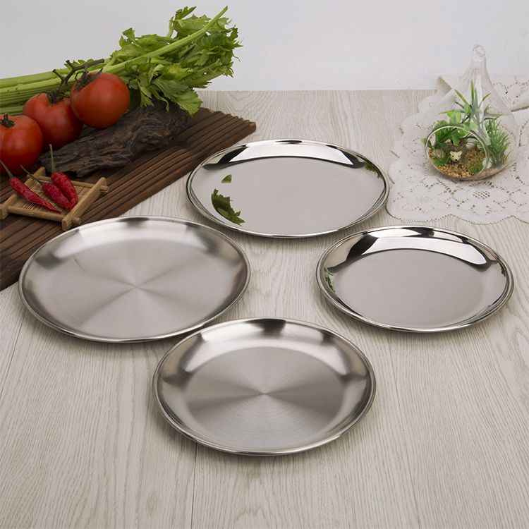 Sleek High Quality Round Metal Stainless Steel Plates Stainless Steel Plate Steel Plate Plates