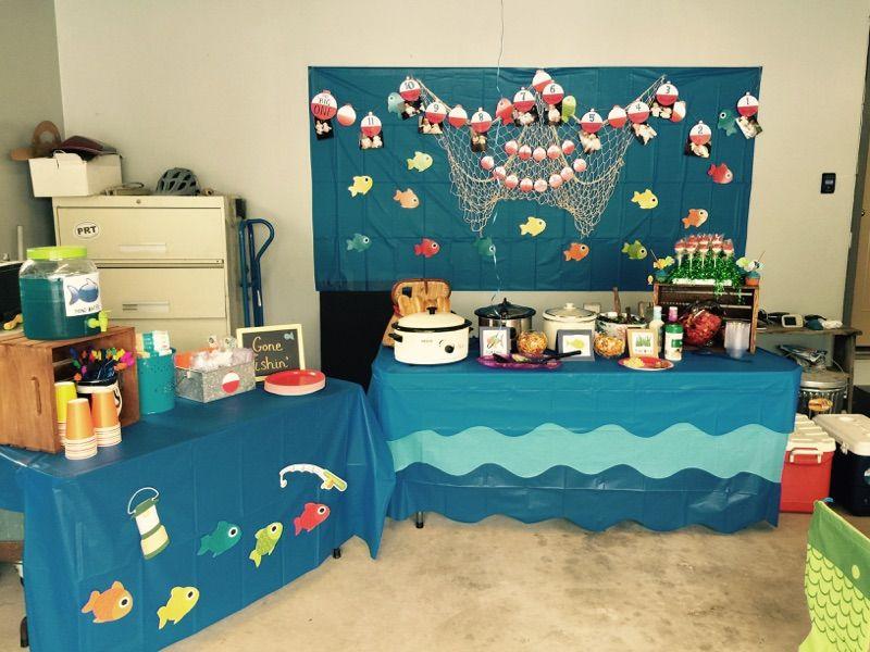 O'fishally 1 1st birthday Fishing birthday party, Boys