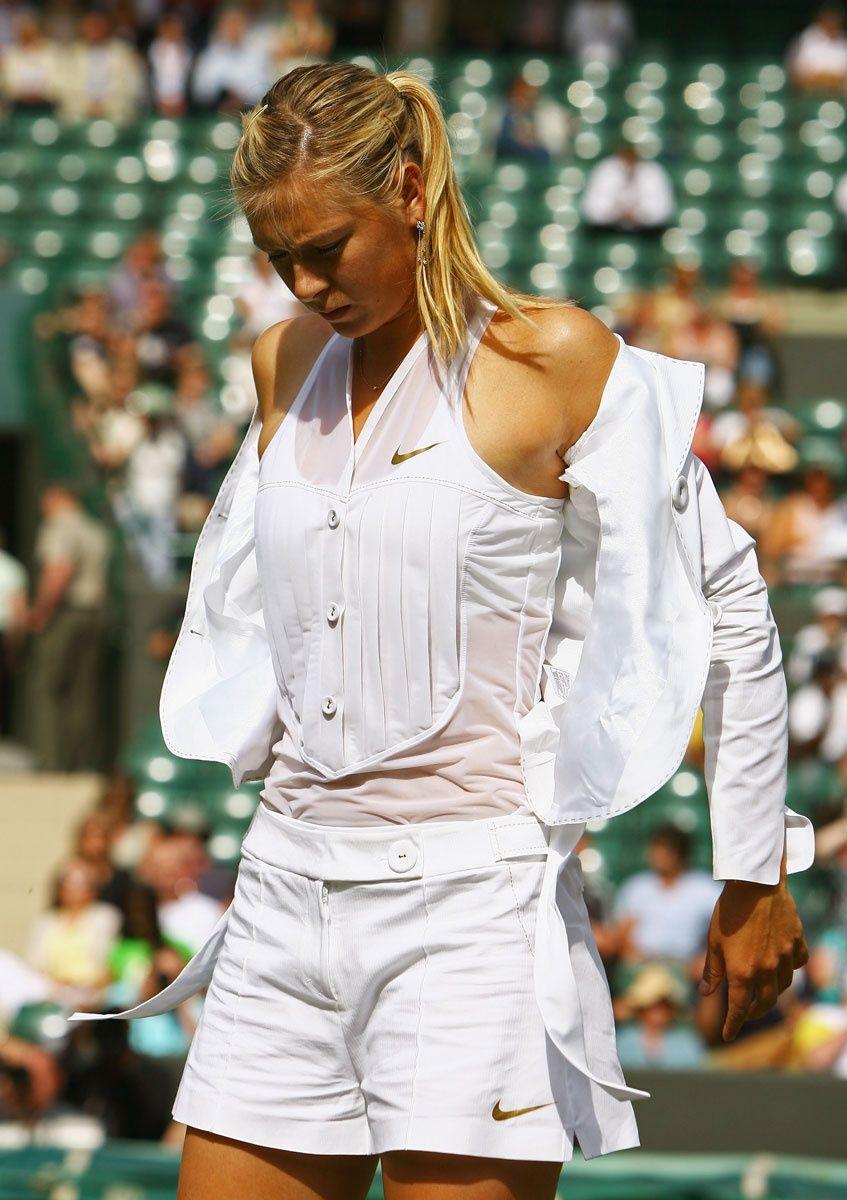 Maria Sharapova at Wimbledon 2008.